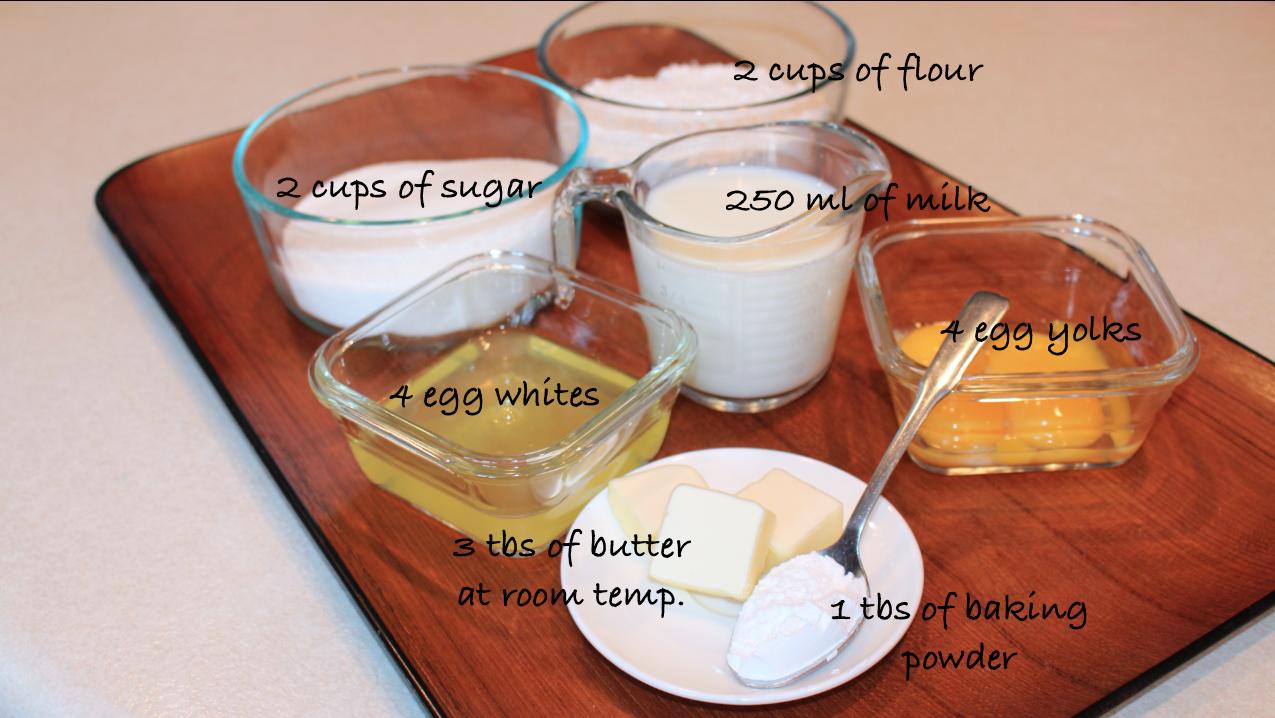 Ingredientes-Bolo Branco