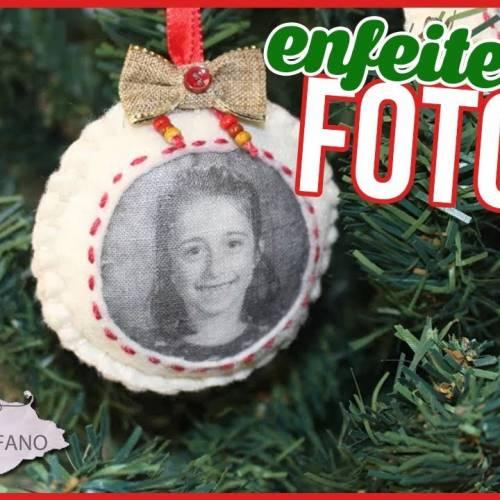 ENFEITE DE ORNAMENTOS COM FOTOS | ENFEITE DE NATAL